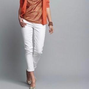 Crisp White Capris Size 10 Summer Cropped